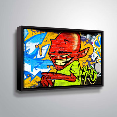Brushstone Demon 3 Gallery Wrapped Floater-FramedCanvas Wall Art