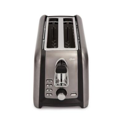 Oster® Black Stainless 4-Slice Toaster