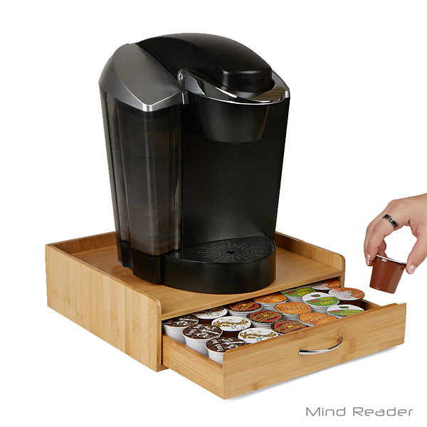 Mind Reader Bamboo K-cup Drawer with Lip Panel