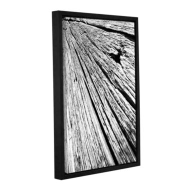 Brushstone Driftwood Gallery Wrapped Floater-Framed Canvas Wall Art