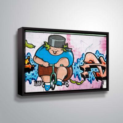 Brushstone Butch 1 Gallery Wrapped Floater-FramedCanvas Wall Art