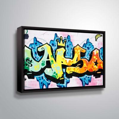 Brushstone Butch 5 Gallery Wrapped Floater-FramedCanvas Wall Art