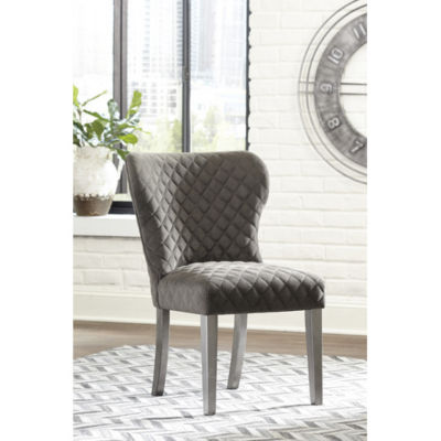 Signature Design by Ashley® Set of 2 Rozzelli Diamond Quilted Upholstered Dining Side Chairs