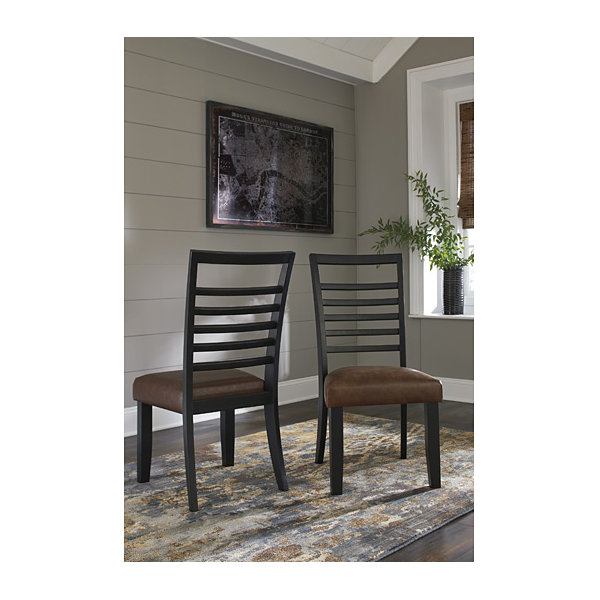 Signature Design by Ashley® Set of 2 Manishore Upholstered Dining Side Chairs