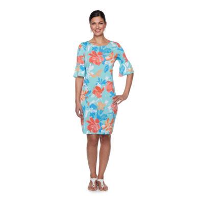 Lark Lane Must Haves III Elbow Sleeve Floral Shift Dress