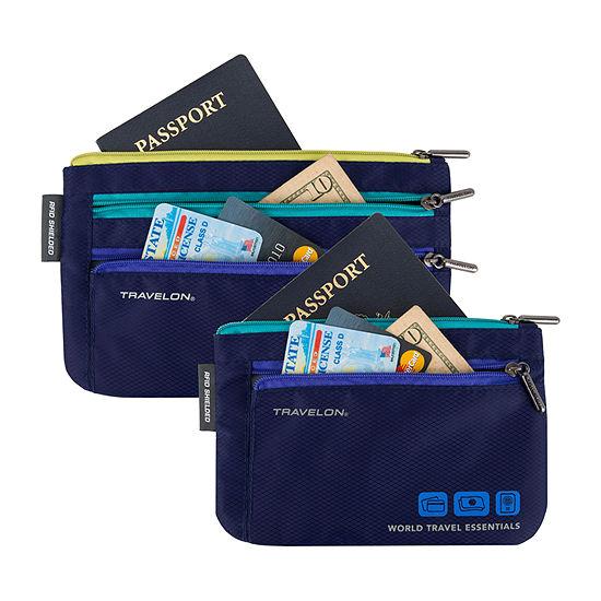 Travelon World Travel Essentials 2 Pc Passport Holder