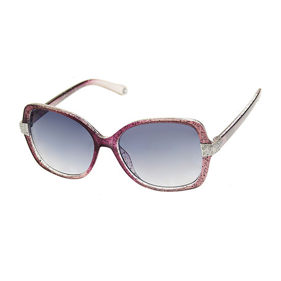 Nicole By Nicole Miller Womens Full Frame Square UV Protection Sunglasses