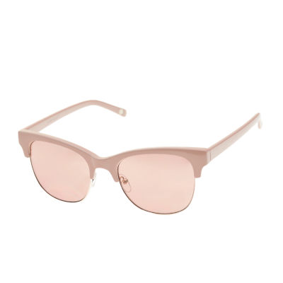 Nicole By Nicole Miller Womens Half Frame Square UV Protection Sunglasses