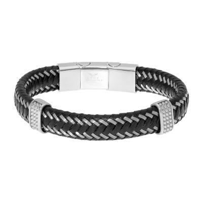 Stainless Steel Braid Link Bracelet