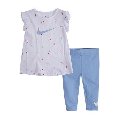 Nike 2-pc. Logo Capri Set Toddler Girls