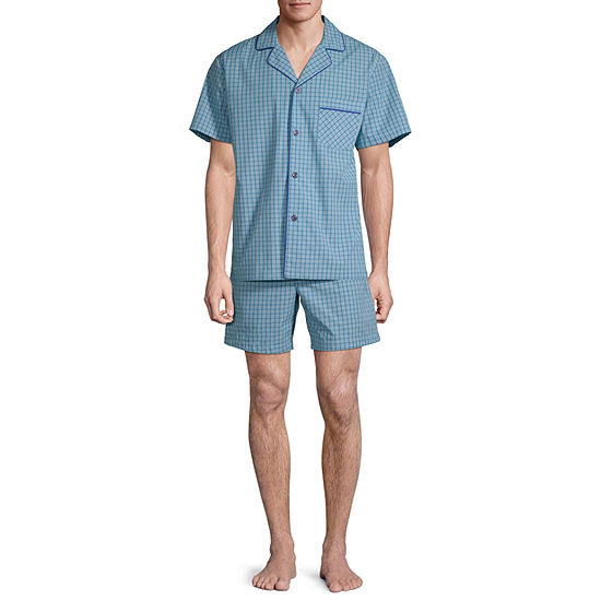 Stafford Notch Collar Pajama Set - Big and Tall