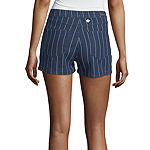 Unionbay Womens High Rise Denim Short- Juniors