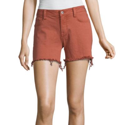 Arizona Womens Low Rise Midi Short-Juniors