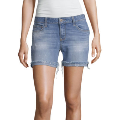 Arizona Womens Low Rise Midi Short-Juniors