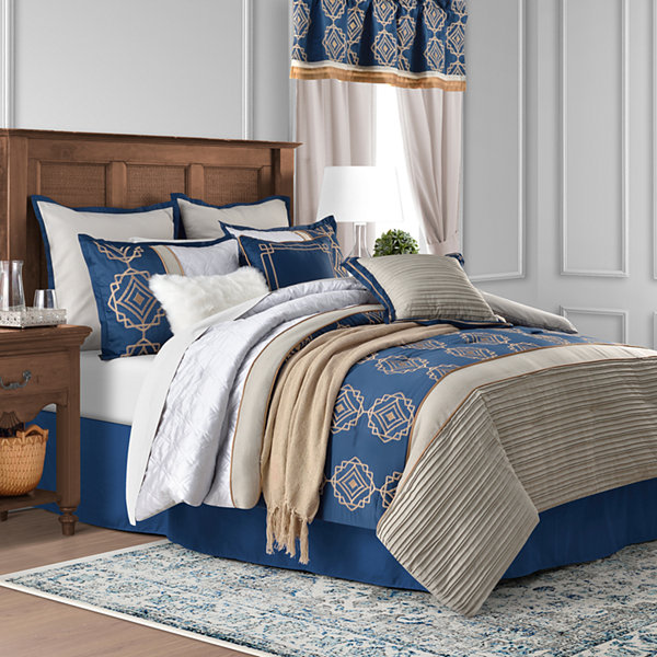 JCPenney Home Embry 10-pc. Embroidered Comforter Set
