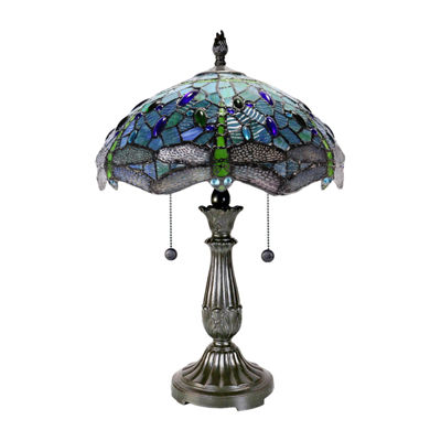 Dale Tiffany King Dragonfly Glass Table Lamp