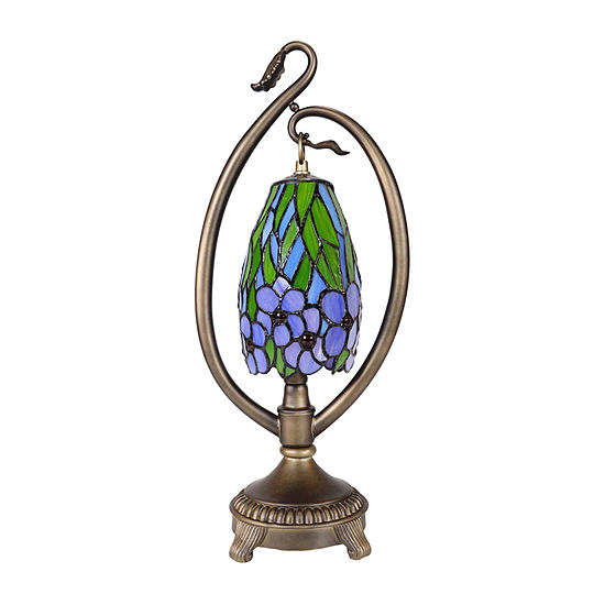 Dale Tiffany Grove Floral Accent Desk Lamp
