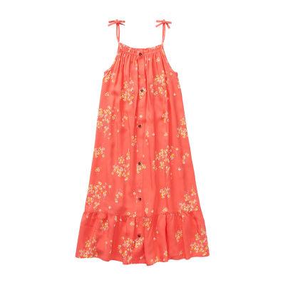Peyton & Parker Little & Big Girls Sleeveless Floral A-Line Dress