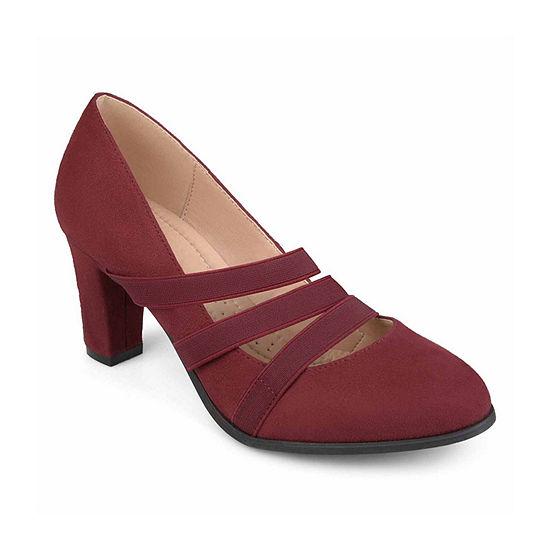 Journee Collection Womens Loren Pumps Stacked Heel