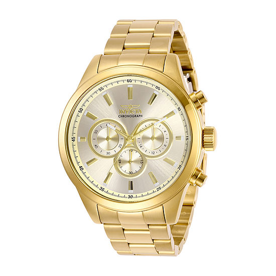 Invicta Specialty Mens Gold Tone Stainless Steel Bracelet Watch-29174