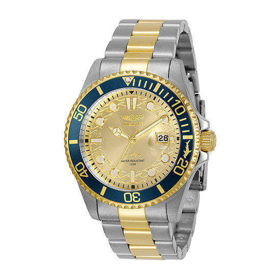 Invicta Pro Diver Mens Two Tone Stainless Steel Bracelet Watch-30022