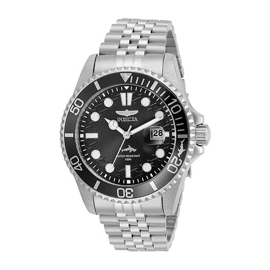 Invicta Pro Diver Mens Silver Tone Stainless Steel Bracelet Watch-30609
