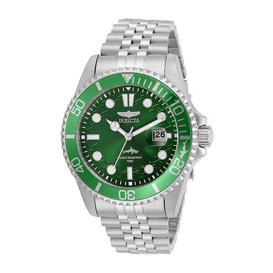 Invicta Pro Diver Mens Silver Tone Stainless Steel Bracelet Watch-30611