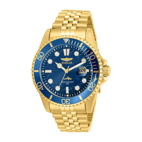 Invicta Pro Diver Mens Gold Tone Stainless Steel Bracelet Watch-30612