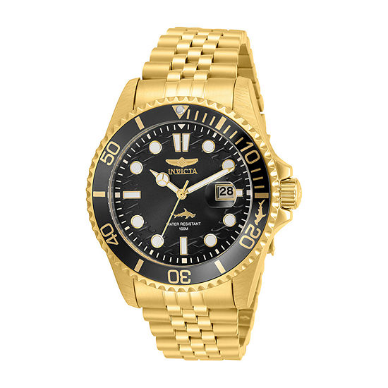 Invicta Pro Diver Mens Gold Tone Stainless Steel Bracelet Watch-30614