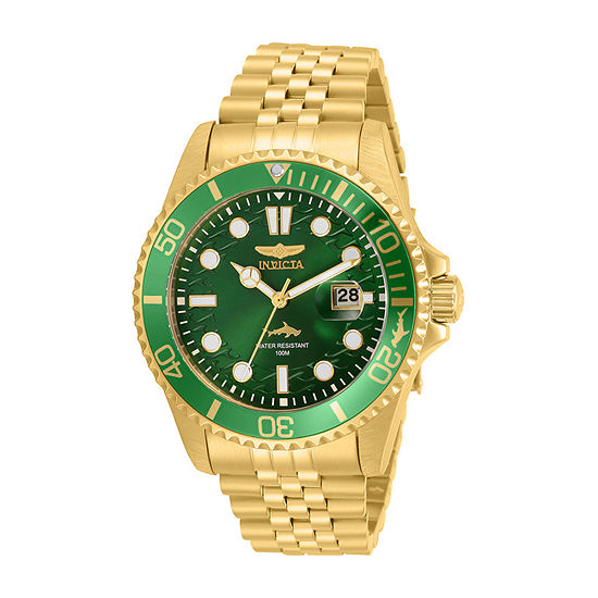 Invicta Pro Diver Mens Gold Tone Stainless Steel Bracelet Watch-30615