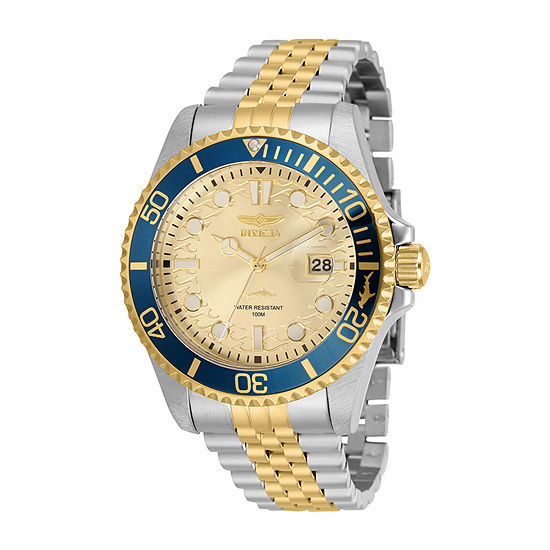Invicta Pro Diver Mens Two Tone Stainless Steel Bracelet Watch-30617