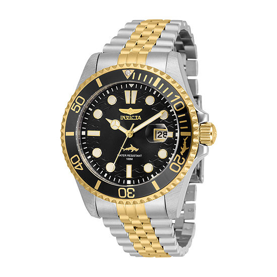 Invicta Pro Diver Mens Two Tone Stainless Steel Bracelet Watch-30618