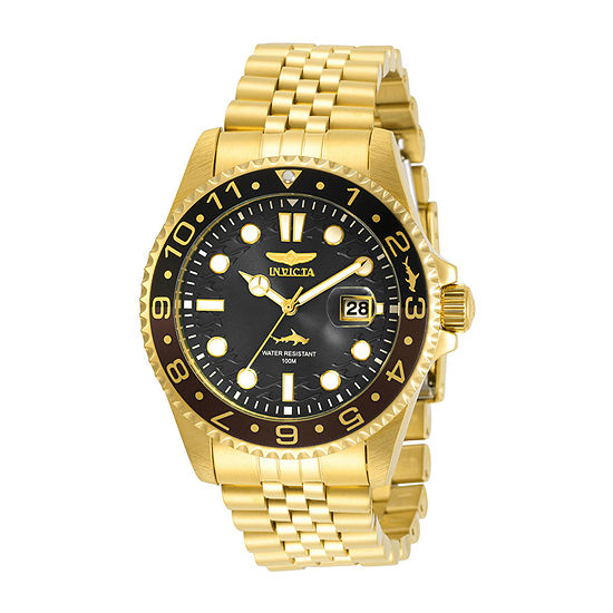 Invicta Pro Diver Mens Gold Tone Stainless Steel Bracelet Watch-30622