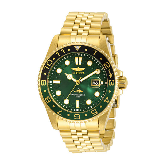 Invicta Pro Diver Mens Gold Tone Stainless Steel Bracelet Watch-30623