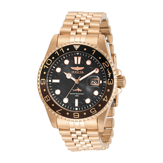 Invicta Pro Diver Mens Rose Goldtone Stainless Steel Bracelet Watch-30624
