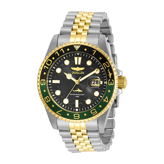 Invicta Pro Diver Mens Two Tone Stainless Steel Bracelet Watch-30625