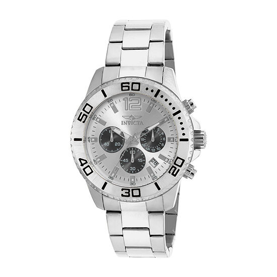 Invicta Pro Diver Mens Silver Tone Stainless Steel Bracelet Watch-17395