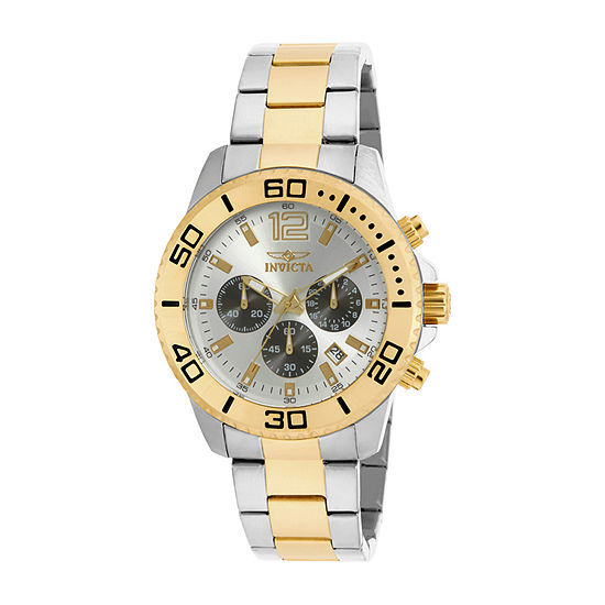 Invicta Pro Diver Mens Two Tone Stainless Steel Bracelet Watch-17399