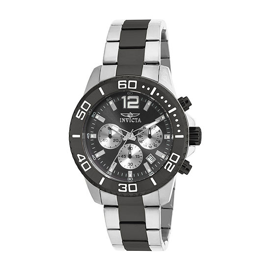 Invicta Pro Diver Mens Two Tone Stainless Steel Bracelet Watch-17401