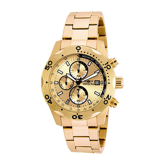 Invicta Specialty Mens Gold Tone Stainless Steel Bracelet Watch-17750