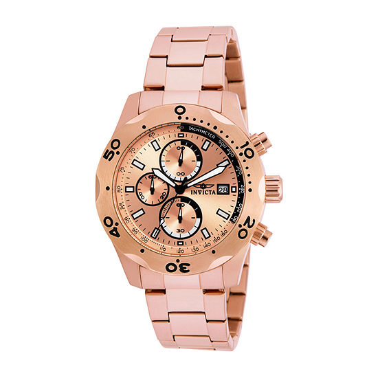 Invicta Specialty Mens Rose Goldtone Stainless Steel Bracelet Watch-17752