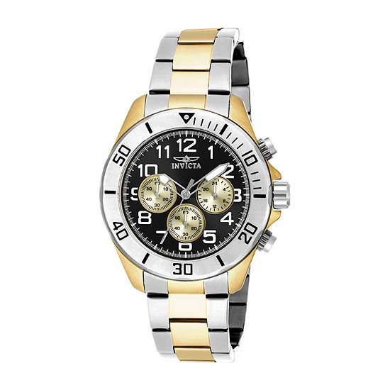 Invicta Pro Diver Mens Two Tone Stainless Steel Bracelet Watch-18220