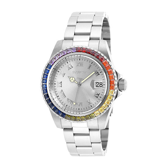 Invicta Angel Womens Silver Tone Stainless Steel Bracelet Watch-20021