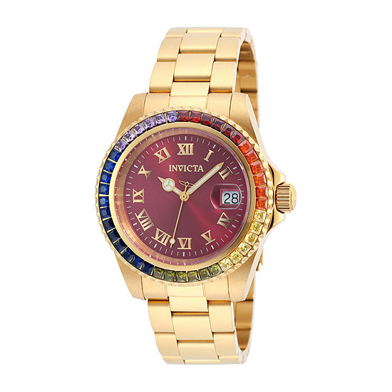 Invicta Angel Womens Gold Tone Stainless Steel Bracelet Watch-20023