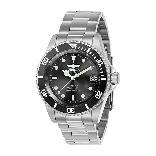 Invicta Pro Diver Mens Automatic Silver Tone Stainless Steel Bracelet Watch-24760