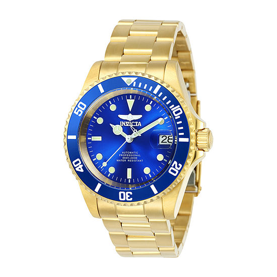 Invicta Pro Diver Mens Automatic Gold Tone Stainless Steel Bracelet Watch-24763