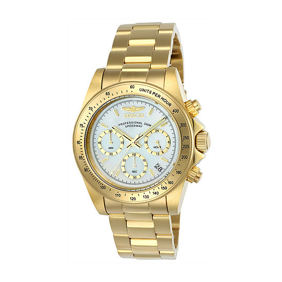 Invicta Speedway Mens Gold Tone Stainless Steel Bracelet Watch-24770