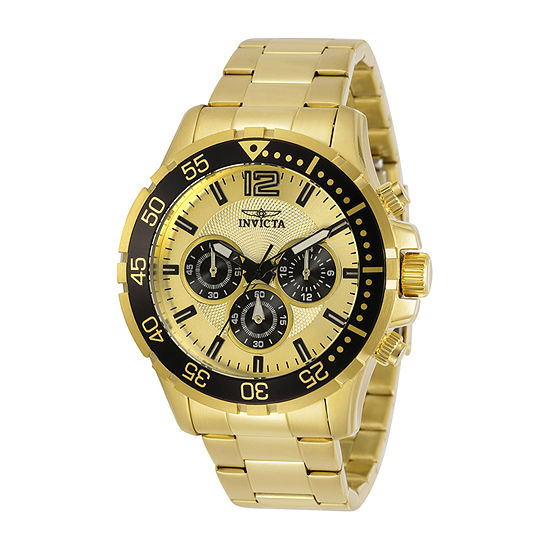 Invicta Specialty Mens Gold Tone Stainless Steel Bracelet Watch-25754
