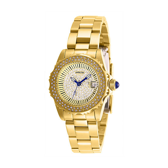 Invicta Angel Womens Gold Tone Stainless Steel Bracelet Watch-28441