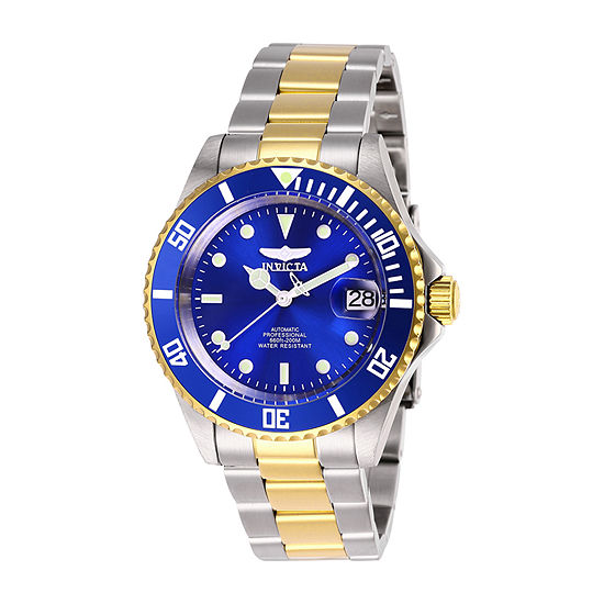 Invicta Pro Diver Mens Automatic Two Tone Stainless Steel Bracelet Watch-28662